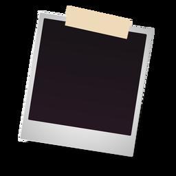 Icono de marco de foto Polaroid