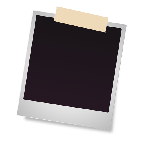 Polaroid photo frame icon Transparent PNG
