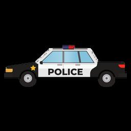 Ilustração de carro de patrulha de polícia