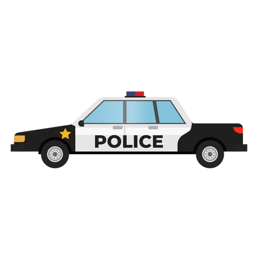 Police patrol car illustration Transparent PNG