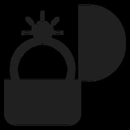 Icono de anillo de propuesta negro