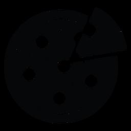 Icono de pizza redonda