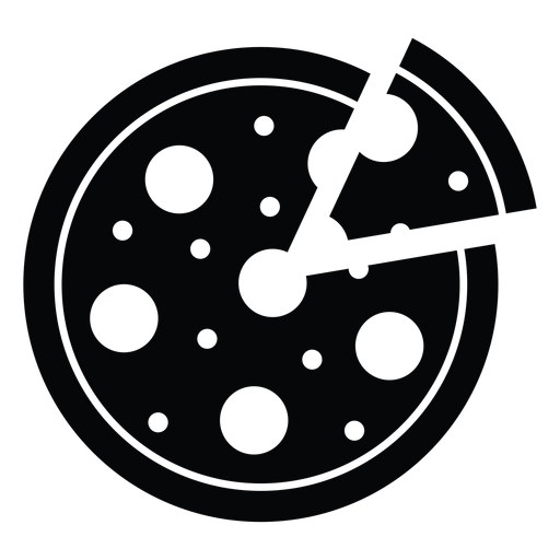 Round pizza icon Transparent PNG