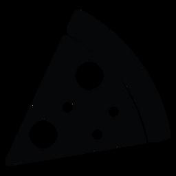 Ícone de fatia de pizza simples