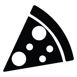 Simple pizza slice icon