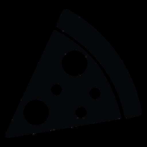 Icono de rebanada de pizza simple Transparent PNG