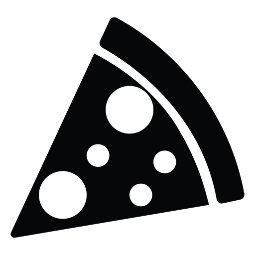 Simple pizza slice icon Transparent PNG