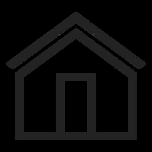 Icono de casa simple Transparent PNG