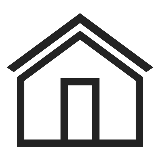 Simple house icon Transparent PNG