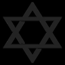Icono de emblema de estrella de david