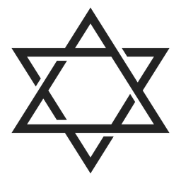 Icono de emblema de la estrella de david