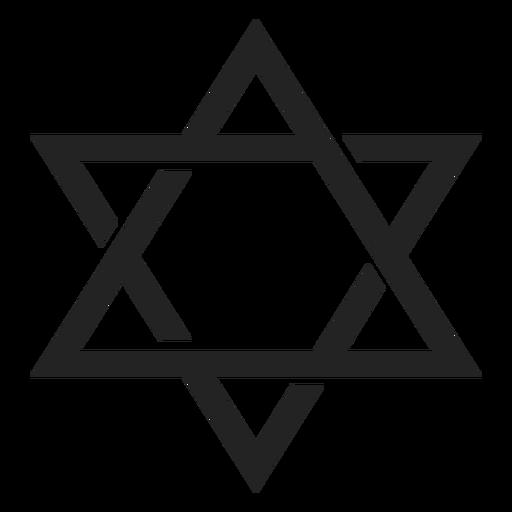 Icono de emblema de la estrella de david Transparent PNG
