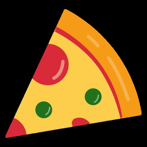 Saboroso ícone de pizza Transparent PNG