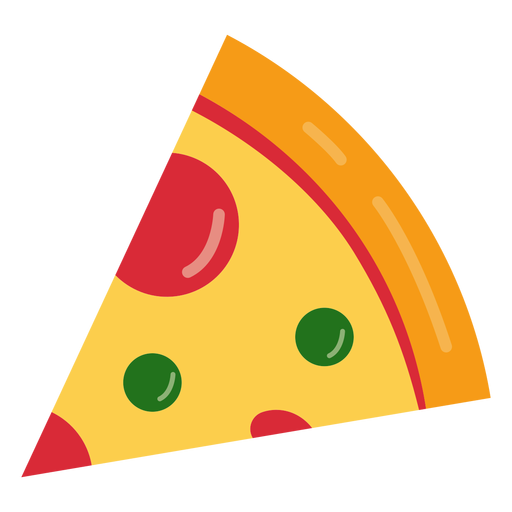 Tasty pizza icon Transparent PNG