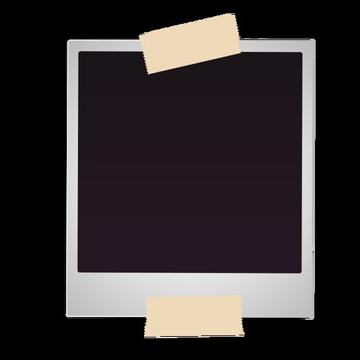 Vintage polaroid photo frame icon Transparent PNG