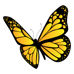 Desenho de borboleta amarela