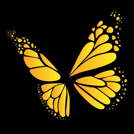 Desenho de borboleta amarela Transparent PNG