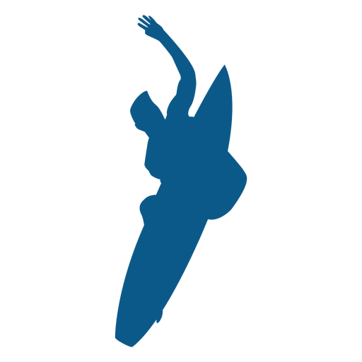 Aerial Surfen Silhouette Transparent PNG
