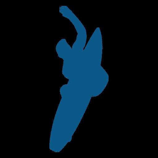 Silhueta de surf aéreo Transparent PNG