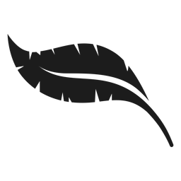 Ícone de folha preta de banana