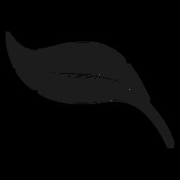 Icono de hoja de plátano negro