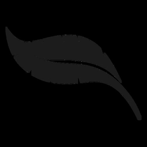 Icono de hoja de plátano negro Transparent PNG