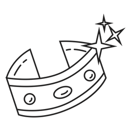 Icono de brazalete negro y blanco icono