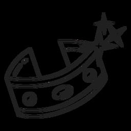 Schwarz-weiße Ikone der Armband-Halskette