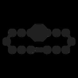 Ícone preto pulseira de cordão