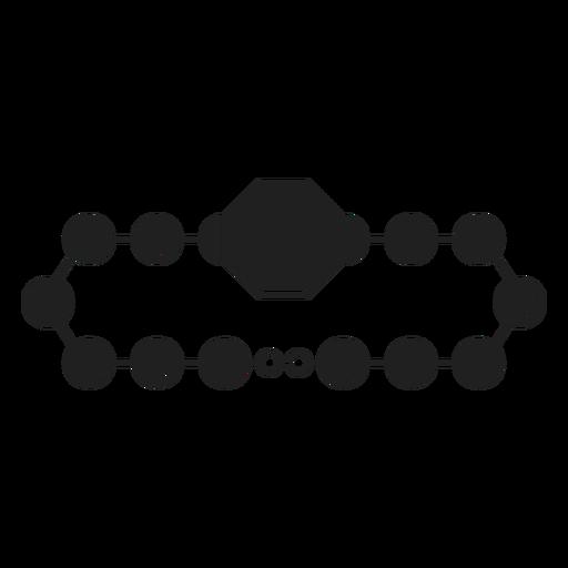 Bead bracelet black icon Transparent PNG