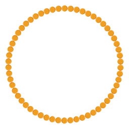 Bead necklace vector icon