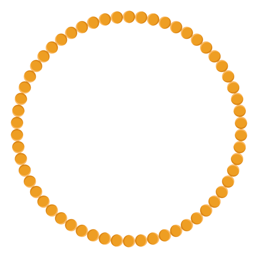 Bead necklace vector icon Transparent PNG
