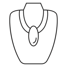 Big pendant necklace stroke icon