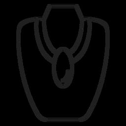 Ícone de traçado de colar grande pingente