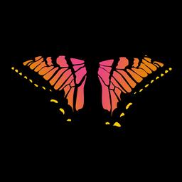 Grande, borboleta, ícone