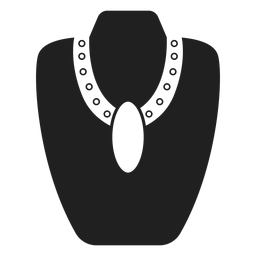 Big pendant necklace icon