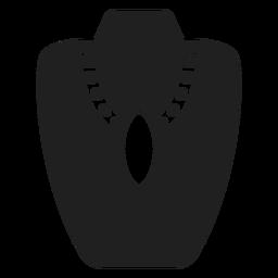 Icono de collar colgante grande