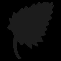 Birkenblatt schwarze Ikone