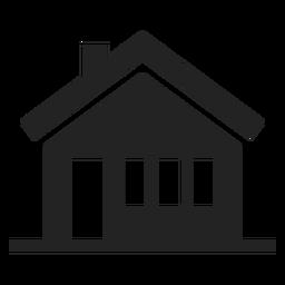 Casa preto e branco ícone