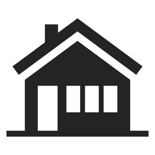 Black and white house icon Transparent PNG