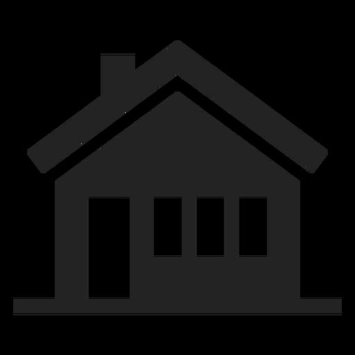 Schwarze und weiße Hausikone Transparent PNG