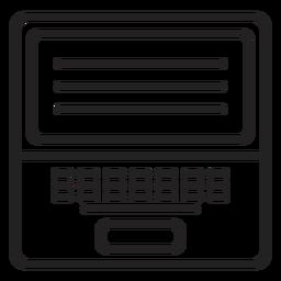 Black and white laptop icon