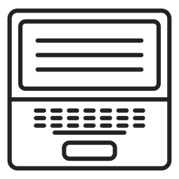 Icono de portátil blanco y negro