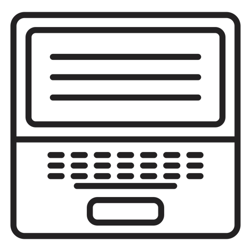 Black and white laptop icon Transparent PNG