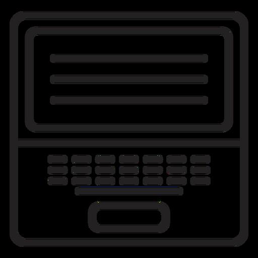 Icono de portátil blanco y negro Transparent PNG