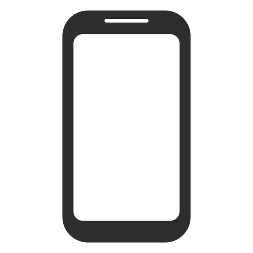 Black and white smartphone icon Transparent PNG