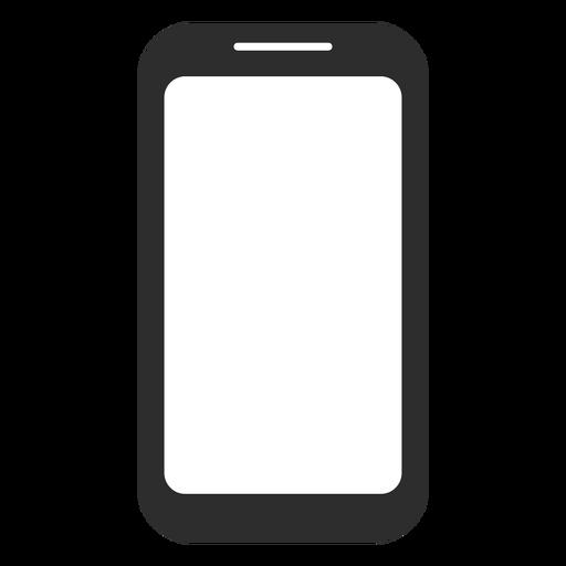Icono de teléfono inteligente en blanco y negro Transparent PNG