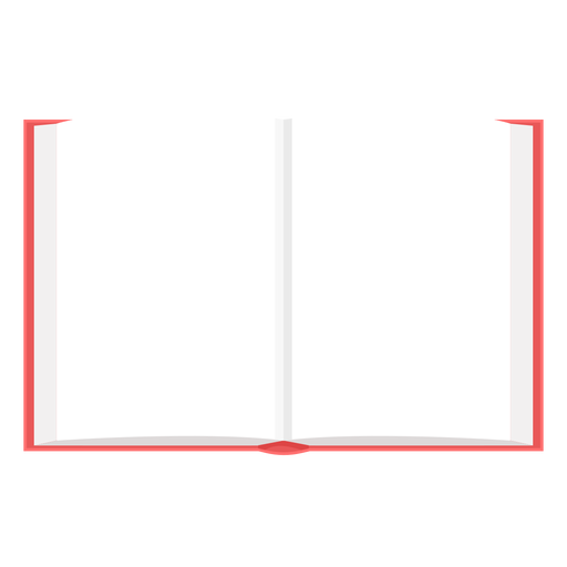 Blank open book vector Transparent PNG
