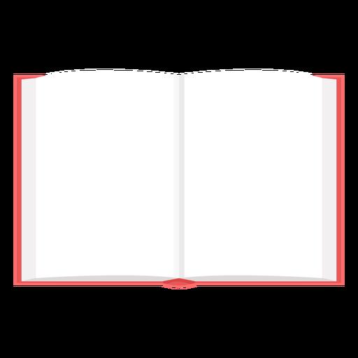 Vector de libro abierto en blanco
