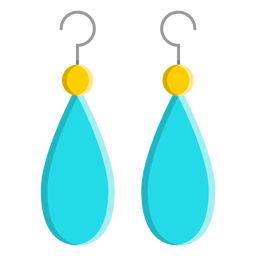 Blue dangle earrings vector